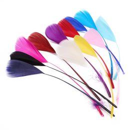 $enCountryForm.capitalKeyWord Australia - Natural 50pcs lot Beautiful Goose Feather Decoration 15-20 cm Mix 13 Colors for DIY Craft Dress Skirt Party Clothing Decoration