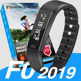 Step tracker wriStband online shopping - 2019 ID115 F0 for Smart Bracelet watch Fitness Tracker Step Counter Activity Monitor Band Vibration Wristband pk m3