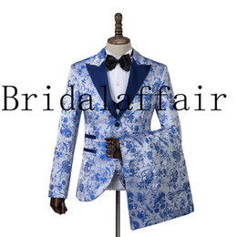 Black suits men china online shopping - Jacket Trousers Vest Wedding dress Suits China Style Jacquard Business Men Classic High quality Suits Custom Made