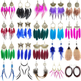 $enCountryForm.capitalKeyWord Australia - Feather Earrings 142 Styles 1729 Kinds Mix Wholesale Lots Clearance High Quality Women Girl Angel Wing Bead Chain Dangle Chandelier Eardrop