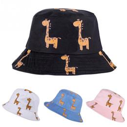 $enCountryForm.capitalKeyWord Canada - Personality Giraffe Pattern Bucket Hat Casual Style Outdoor Sun Hat