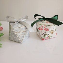 Gift Wrapping Paper Designs NZ - Flaming Diamond Shaped Favor Gift Package 6 Designs DIY Candy Gift Wrapping Paper Gift Wrap Box For Wedding Party 50 Pieces ePacket