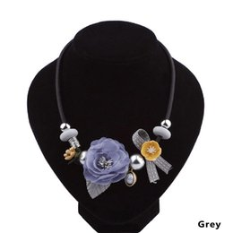 $enCountryForm.capitalKeyWord Australia - Bohemia Lace Flower Choker Necklace Women Vintage Black Red Blue Crystal Necklaces Gothic Punk Collar Choker Jewelry Dropship