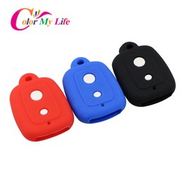 car key skins Australia - 2 Buttons Silicone Car Key Cover Case Set Protection Skin Shell Bag Fit for PERODUA Alza Viva Myvi Remote Key Holder