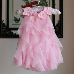 Pink Baby Tutu Australia - 6 9 12 18 Months Outfit Pink Birthday Dress Baby Girl 2019 Summer Clothing Newborn Tutu Princess Dress For Infant Y19061101