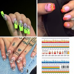 Fashion nails Foils online shopping - 2019 New Fashion Nail Art Stickers Flame Reflections Tape Adhesive Foils DIY Decoration Maquiagem Drop Shipping