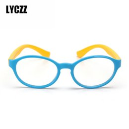 f346d567d0 LYCZZ Niños marcos de anteojos retro Marcos de gafas flexibles para niños  Gafas blandas Niños niñas Miopía Óptica Ambliopía