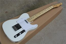 priced guitars NZ - White Electric Guitar Custom Factory Wholesale Price Concessions ,Black Pickup ,Chrome Hardware