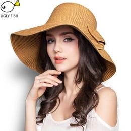 Women Floppy Hat Australia - Summer hats for women straw hat beach hats for women sun hats wide brim floppy