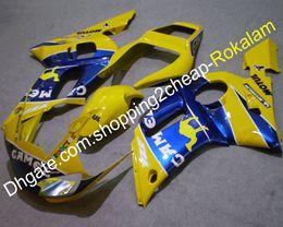 $enCountryForm.capitalKeyWord Australia - Fairings For Yamaha Cowling YZF-R6 1998 1999 2000 2001 2002 YZF 600 R6 YZFR6 Sport Moto Bodywork Yellow Blue Fairing Set (Injection molding)