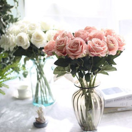 Bulk artificial flower decorations online shopping - Artificial Slik Flower Fake Flower Heads Natural Touch Wedding Bulk Home Party Festival Decoration Flowers Floral