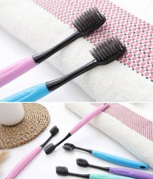 Charcoal Hair Australia - Source factory toothbrush Japanese environmental protection wheat straw preparation charcoal soft hair adult toothbrush OEM processing custo