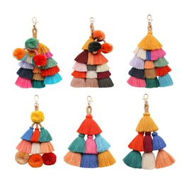 solar water bags 2019 - Original DIY Jewelry Accessories Pure Cotton Thread Tassels Hanging Decoration Bag Hanging Key Chain Gifts cheap solar w
