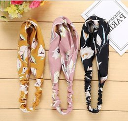 $enCountryForm.capitalKeyWord Australia - Edition of Xiaoqing Fresh and Loose Cross Hair Band Face Washing and Cosmetic Bea Hair Band Broken Flower Fabric Hoop