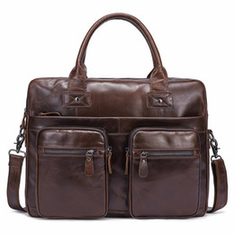 $enCountryForm.capitalKeyWord Canada - Brand Design Messenger Bag Men Shoulder Bag Genuine Leather Casual Male laptop Men's Crossbody bags for Men Briefcases