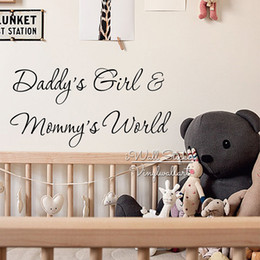 $enCountryForm.capitalKeyWord Australia - Daddy's Girl & Mommy's World Quote Wall Sticker, baby Wall Decal, Quote Wall Stickers For Kids Rooms, Vinyl Decor Home Decoration Q217