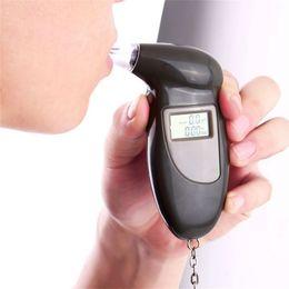 Digital lcD alcohol breath analyzer online shopping - Digital Alcohol Breath Tester Breathalyzer Analyzer Detector Test Keychain Breathalizer Breathalyser Device LCD Display