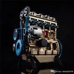 Venta al por mayor de Nueva llegada Teching 1:24 motor de cuatro cilindros de aluminio de aleación modelo completo Colección educativos juguetes de los niños juguetes para adultos