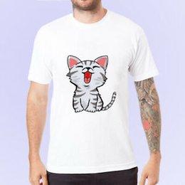 $enCountryForm.capitalKeyWord Australia - Little Cat Mens Short S2019ve T Shirt Tee White Casual Tops Cotton T Shirt Cotton