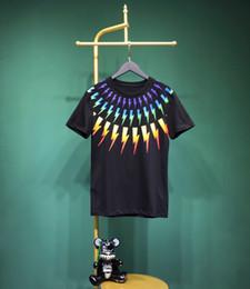 $enCountryForm.capitalKeyWord Australia - 2019 t-shirt mens cotton rainbow Color lightning streaks T Shirt Men's top Quality Shirt fashion style tees shirt homme
