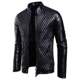 Motorcycle fitness online shopping - Fashion Men Motorcycle PU Leather Jackets Men Leather Autumn Winter Slim Fit Jackets Male Business Fitness Casual Outwear Coats