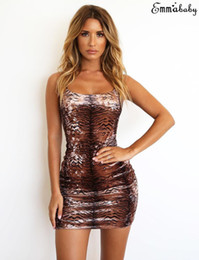 $enCountryForm.capitalKeyWord Australia - Summer Women Strap Dress Clubwear Sling Leopard Print Sexy Bodycon Party Mini Dresses Sleeveless Women Clothes