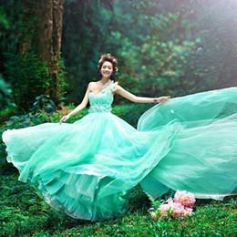 Silk chiffon wedding online shopping - Bride French light wedding dress new Sen line v lead star dreamy drag pregnant female bride summer