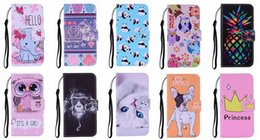 panda case cover for apple iphone NZ - Cartoon Leather Wallet Case For Iphone 11 XR XS MAX 8 7 6 SE Elephant Panda Lion Cat Dog Pineapple Princess Owl Flip Cover Holder Fashion
