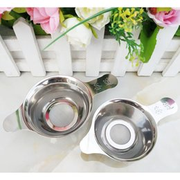 Korean accessories factory online shopping - Reusable Stainless Steel Tea Filter Fine Mesh Tea Infuser Leaf Funnel Tea Strainer Accessories Factory LX1578