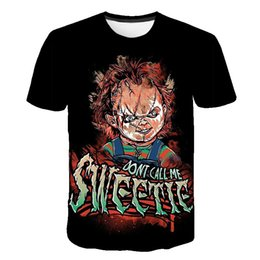 clown 3d t shirt 2019 - New jacket 3D clown T-shirt Street Daquan Men's wear Short sleeve Printing Trend in Europe and America in Summer of