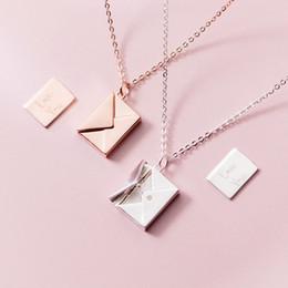 $enCountryForm.capitalKeyWord Australia - Mloveacc Genuine 925 Sterling Silver Pendant Necklace Women Envelope Lover Letter Pendant Best Gifts For Girlfriend Y19050901