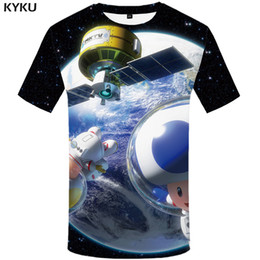 t shirt 3d men funny Australia - Funny T shirts Galaxy Space T shirt Men Astronaut T-shirts 3d Earth Tshirts Casual Cartoon Anime Clothes Metal Shirt Print