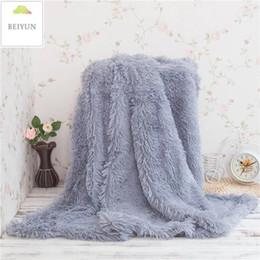 Children Bedding Wholesale Europe Australia - New Arrival Blanket Plush Throw Blanket Super Soft Long Shaggy Fuzzy PV Fur Faux Fur Warm Elegant Cozy Throw Sofas Bedding