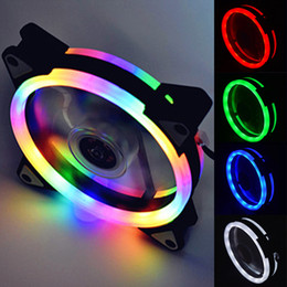 $enCountryForm.capitalKeyWord Australia - 1pcs Computer LED Fans Double-sided Computer Power Supply Fan Aurora LED Light Chassis Fan Red Blue Green White Cooler Fans