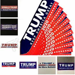 Donald Trump 2020 Adesivi per auto Adesivo per paraurti Keep Keep America Grande decalcomania per auto Styling Veicolo Paster Novità articoli Trump Stickers 4728 in Offerta
