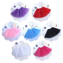 red white blue tutus Australia - Baby Star Sequins Lace Skirts Girls Solid Color Tulle Tutu Skirts Kid's Dance wear Ballet Skirts Fashion Princess Mini Dress CLS367