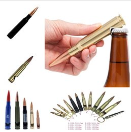 Bullet Bottles online shopping - More size creative bullet opener Shell case shaped bottle opener Great party business gift Can laser customize logo