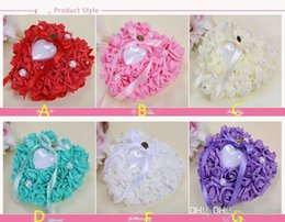 Flower Ring Pillows Colors Bridal Accessories Wedding Supplies Hand Made Flowers Wedding Accessories on Sale
