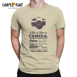chic plus size clothes Australia - Vintage Chic Life Is Like A Camera T-Shirts for Men Cotton T Shirt Photographer Short Sleeve Tees Plus Size Clothing