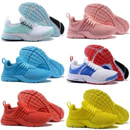 womens yellow canvas shoes NZ - 2020 Top Brand Fshion React Presto Sports Running Shoes Unholy Cumulus Pink Light Blue White Yellow Mens Womens Designers Trainers Sneakers