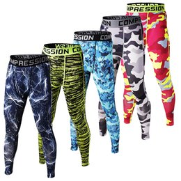 Fitness Leggings Lycra Australia - Mens Fashion Fitness Compression Pants 2019 Camouflage Joggers Men Camo Tights Leggings Crossfit Trousers Brand Clothing