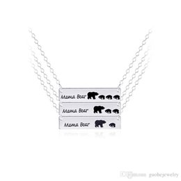 Christmas Gifts Mothers Australia - New mothers day gift jewelry mama bear letter necklace alloy animal bear women necklace free shipping