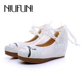 $enCountryForm.capitalKeyWord Australia - Designer Dress Shoes Size 34-41 Animal And Flower Women's Old Beijing Cloth 2019 Fashion Hanfu Ethnic High heels Woman Spring Wedges Shoe