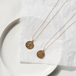 Necklaces Pendants Australia - 2019 New fashion pendant coin necklace women's clavicle chain