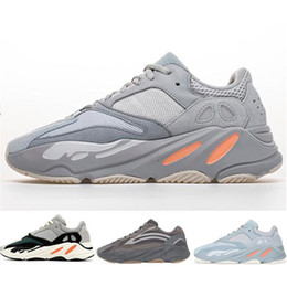 Cheap laCe up sandals online shopping - Cheap Inertia Static Kanye West Wave Runner Shoes Men Women Mauve Solid Grey fashion luxury mens women designer sandals shoes