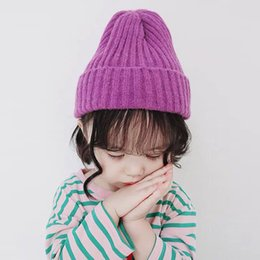 $enCountryForm.capitalKeyWord Australia - Baby Hat Kids Newborn Knitted Cap Crochet Solid Children Beanies Boys Girls Hats Toddler Caps Accessories