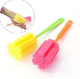 Bottle Cleaner Brush Long Australia - Nothing Packing Nude Durable Sponge Long Bottle Cup Kitchen Clean Brush