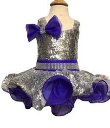 cupcake pageant dresses for infants Canada - Baby Girls Sequined Pageant Cupcake Dress Princess Crystal Bow Birthday Party Short Gowns For Infant Special Occasion Sliver