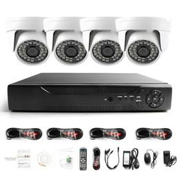 Vente en gros Surveillance HDMI 4CH AHD 1080N DVR HD jour nuit 1800TVL 24IR Caméra intérieure étanche CCTV Systèmes de sécurité pour la maison