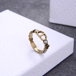 Самые продаваемые новые звезды письмо жемчужина открытие дизайнерское кольцо роскошные дизайнерские ювелирные изделия женщины кольцо на Распродаже